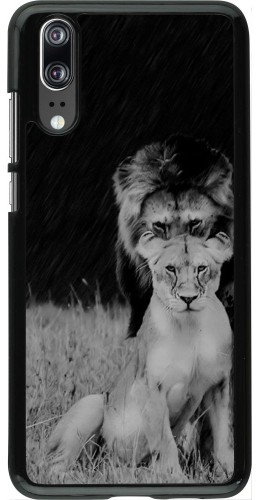 Coque Huawei P20 - Angry lions