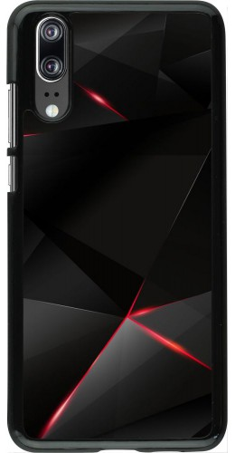 Coque Huawei P20 - Black Red Lines