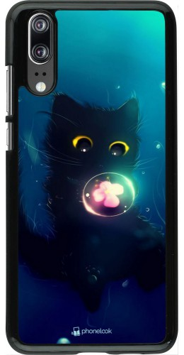 Coque Huawei P20 - Cute Cat Bubble