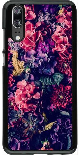 Coque Huawei P20 - Flowers Dark