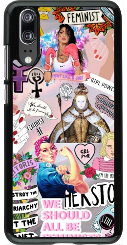 Coque Huawei P20 - Girl Power Collage