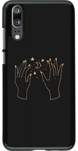 Coque Huawei P20 - Grey magic hands