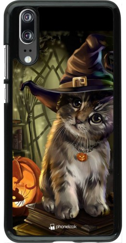 Coque Huawei P20 - Halloween 21 Witch cat