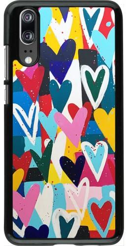 Coque Huawei P20 - Joyful Hearts