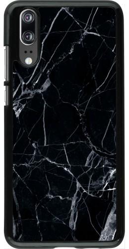 Coque Huawei P20 - Marble Black 01