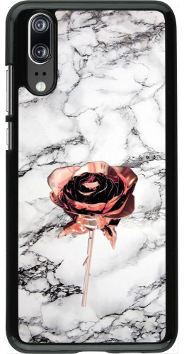 Coque Huawei P20 - Marble Rose Gold