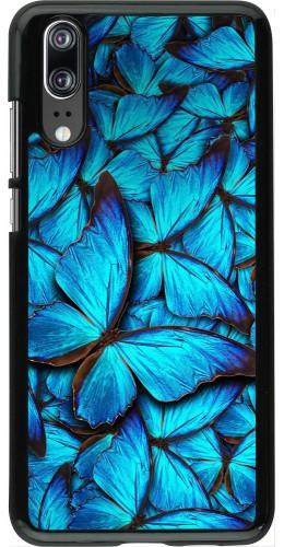 Coque Huawei P20 - Papillon bleu