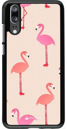 Coque Huawei P20 - Pink Flamingos Pattern