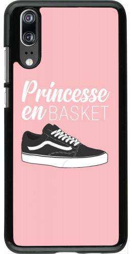 Coque Huawei P20 - princesse en basket