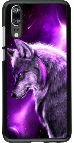 Coque Huawei P20 - Purple Sky Wolf
