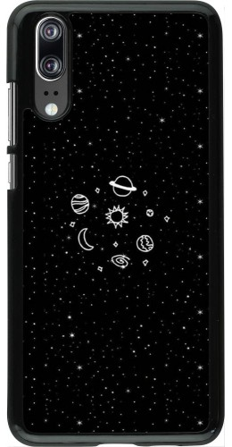 Coque Huawei P20 - Space Doodle