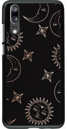 Coque Huawei P20 - Suns and Moons