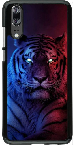 Coque Huawei P20 - Tiger Blue Red
