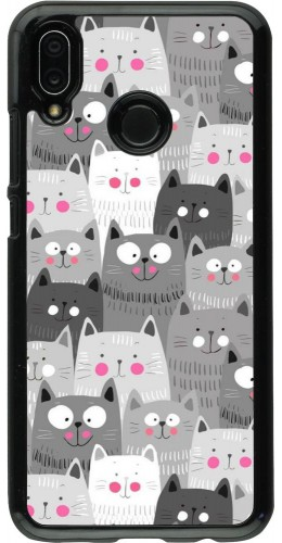 Coque Huawei P20 Lite - Chats gris troupeau