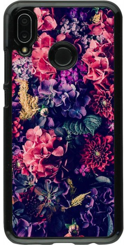 Coque Huawei P20 Lite - Flowers Dark