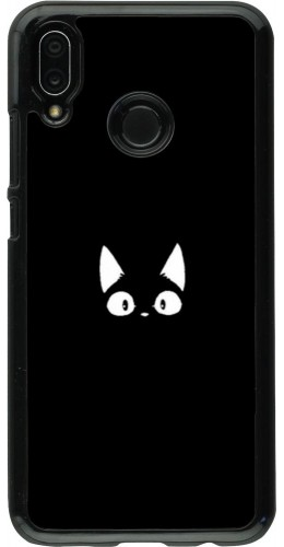 Coque Huawei P20 Lite - Funny cat on black