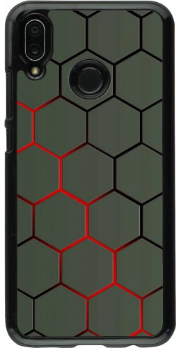 Coque Huawei P20 Lite - Geometric Line red