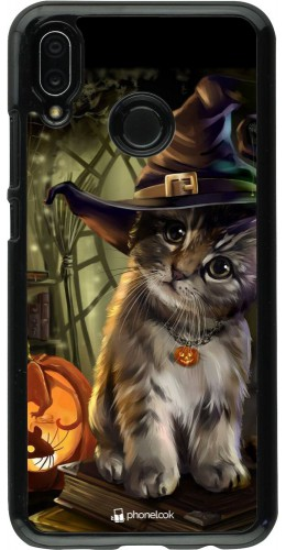 Coque Huawei P20 Lite - Halloween 21 Witch cat