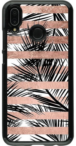 Coque Huawei P20 Lite - Palm trees gold stripes