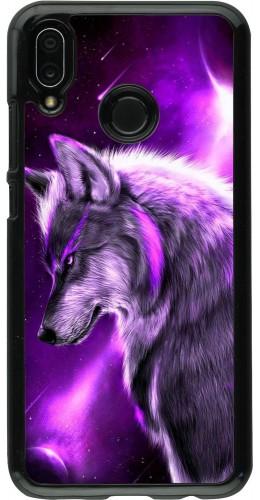 Coque Huawei P20 Lite - Purple Sky Wolf