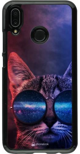 Coque Huawei P20 Lite - Red Blue Cat Glasses