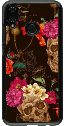 Coque Huawei P20 Lite - Skulls and flowers