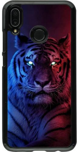 Coque Huawei P20 Lite - Tiger Blue Red