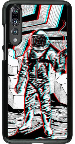 Coque Huawei P20 Pro - Anaglyph Astronaut