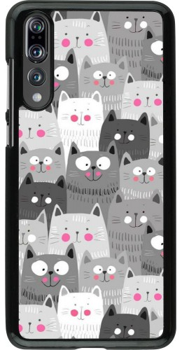 Coque Huawei P20 Pro - Chats gris troupeau