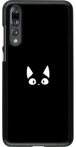 Coque Huawei P20 Pro - Funny cat on black