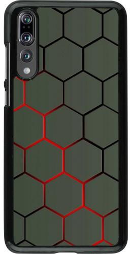 Coque Huawei P20 Pro - Geometric Line red