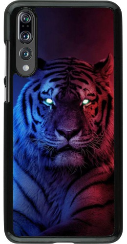 Coque Huawei P20 Pro - Tiger Blue Red