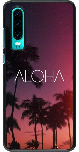 Coque Huawei P30 - Aloha Sunset Palms