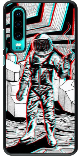 Coque Huawei P30 - Anaglyph Astronaut