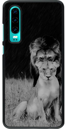 Coque Huawei P30 - Angry lions