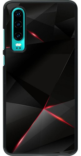 Coque Huawei P30 - Black Red Lines