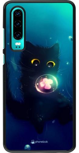 Coque Huawei P30 - Cute Cat Bubble