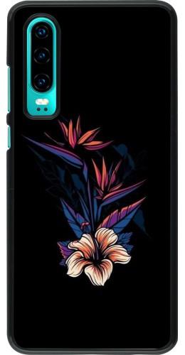 Coque Huawei P30 - Dark Flowers