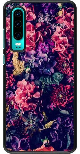 Coque Huawei P30 - Flowers Dark