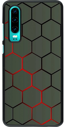 Coque Huawei P30 - Geometric Line red