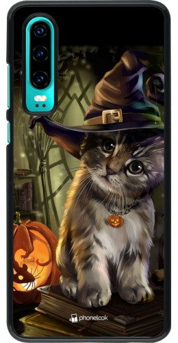 Coque Huawei P30 - Halloween 21 Witch cat