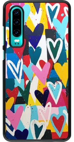 Coque Huawei P30 - Joyful Hearts