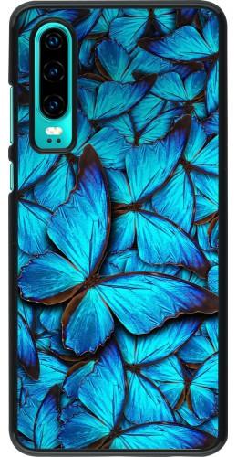 Coque Huawei P30 - Papillon bleu