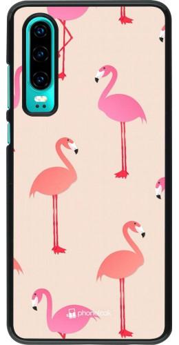 Coque Huawei P30 - Pink Flamingos Pattern