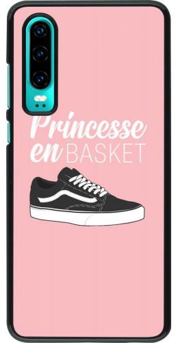 Coque Huawei P30 - princesse en basket