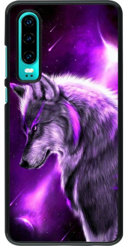 Coque Huawei P30 - Purple Sky Wolf