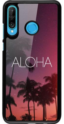 Coque Huawei P30 Lite - Aloha Sunset Palms