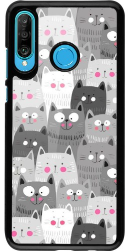 Coque Huawei P30 Lite - Chats gris troupeau