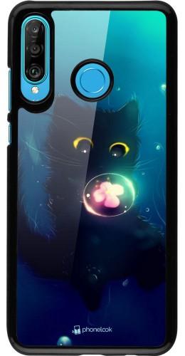 Coque Huawei P30 Lite - Cute Cat Bubble