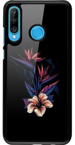 Coque Huawei P30 Lite - Dark Flowers